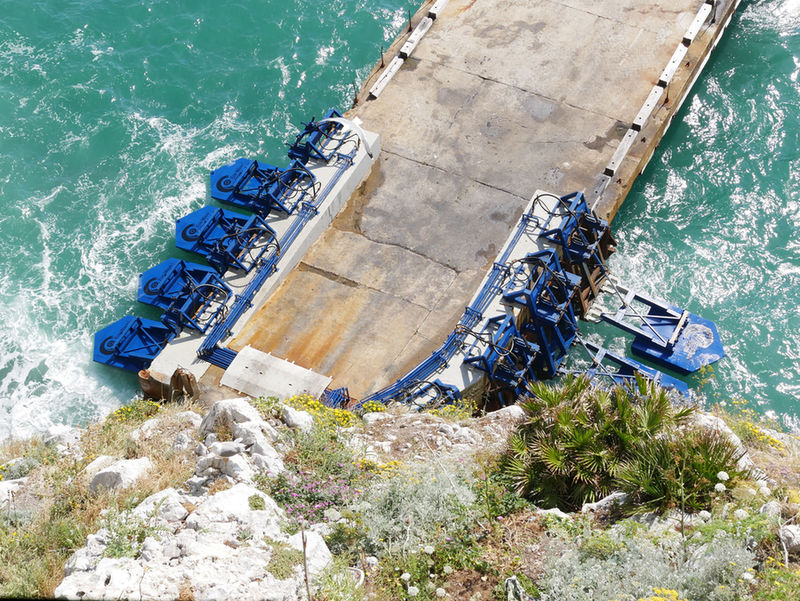 Photo of Eco Wave Power's Gibraltar wave power plant (Courtesy of Eco Wave Power)