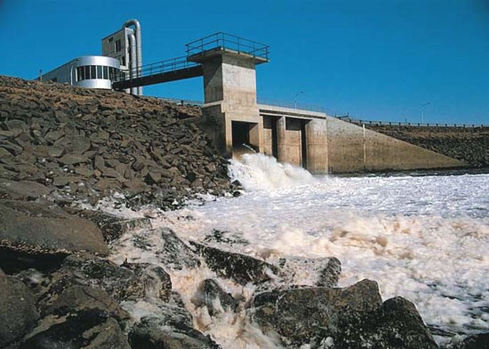 A photo of the Annapolis Tidal Generating Station (Courtesy of Tethys)