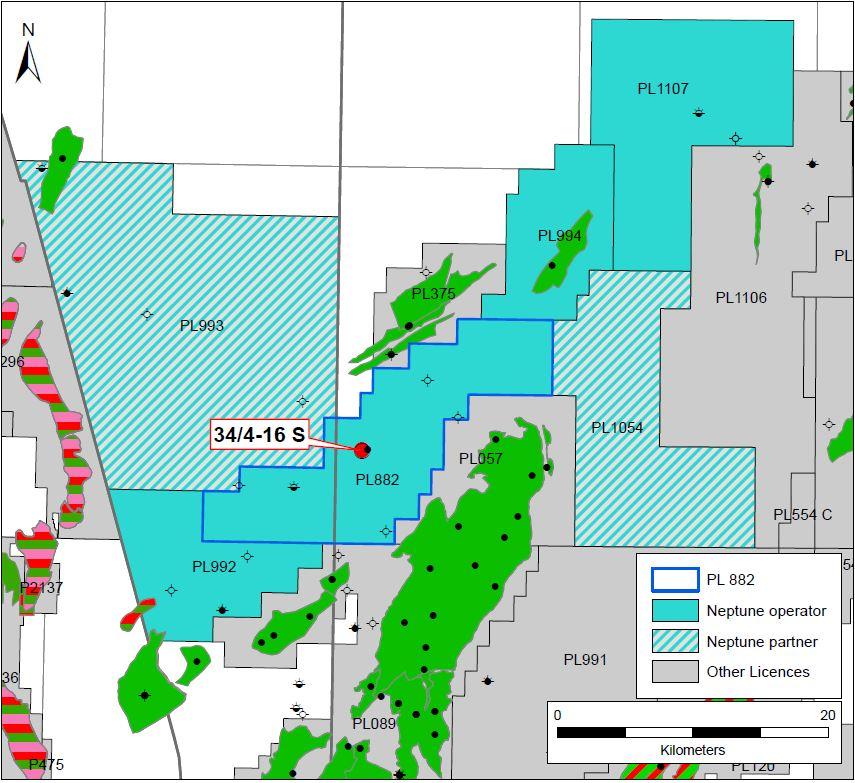 Dugong map - Neptune Energy