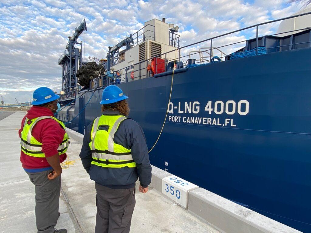 LNG bunkering barge Q-LNG 4000 arrives at Port Canaveral