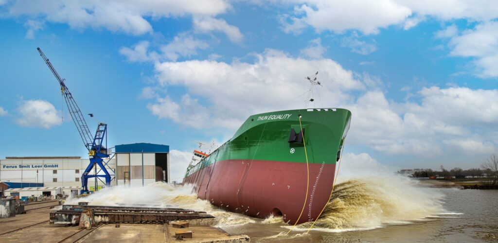 Ferus Smit launches Thun Tankers' LNG-fueled chemical tanker
