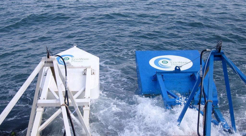 Photo of Eco Wave Power's wave energy technology (Courtesy of Eco Wave Power)