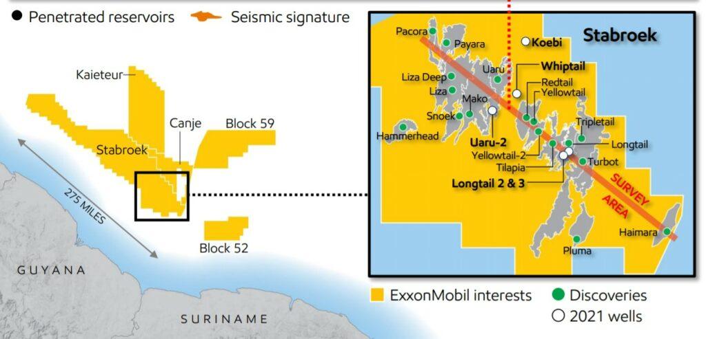 Canje block & Stabroek off Guyana - ExxonMobil