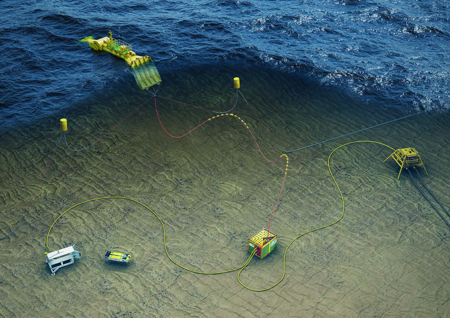 A concept for wave-powered renewable energy system for subsea equipment (Courtesy of Mocean Energy)