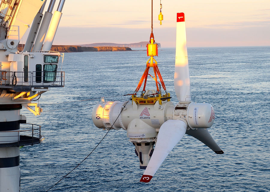 Illustration/SIMEC Atlantis' AR1500 tidal turbine (Courtesy of SIMEC Atlantis Energy)