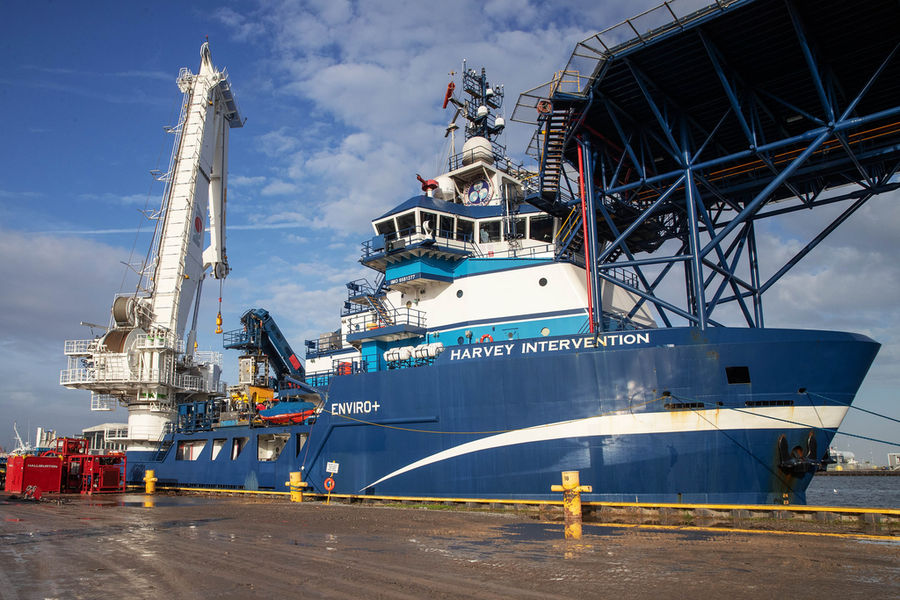 Photo of the Harvey Intervention vessel, used during the Mad Dog project (Courtesy of Subsea 7)
