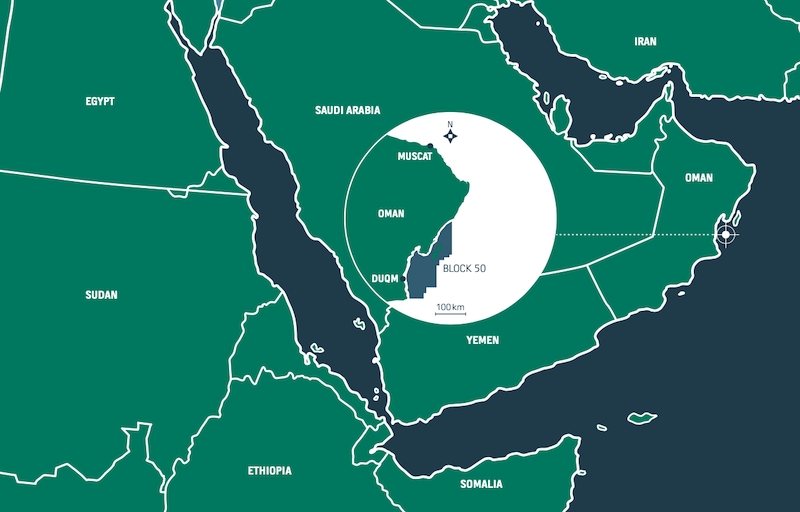 Block 50 off Oman, which contains the Yumna field - Masirah Oil