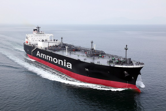 Ammonia-fuelled ammonia gas carrier
