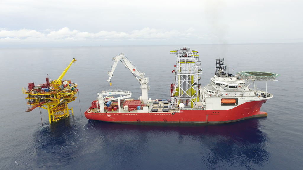 Photo of DP3 M/V Pride vessel (Courtesy of Expro Group)