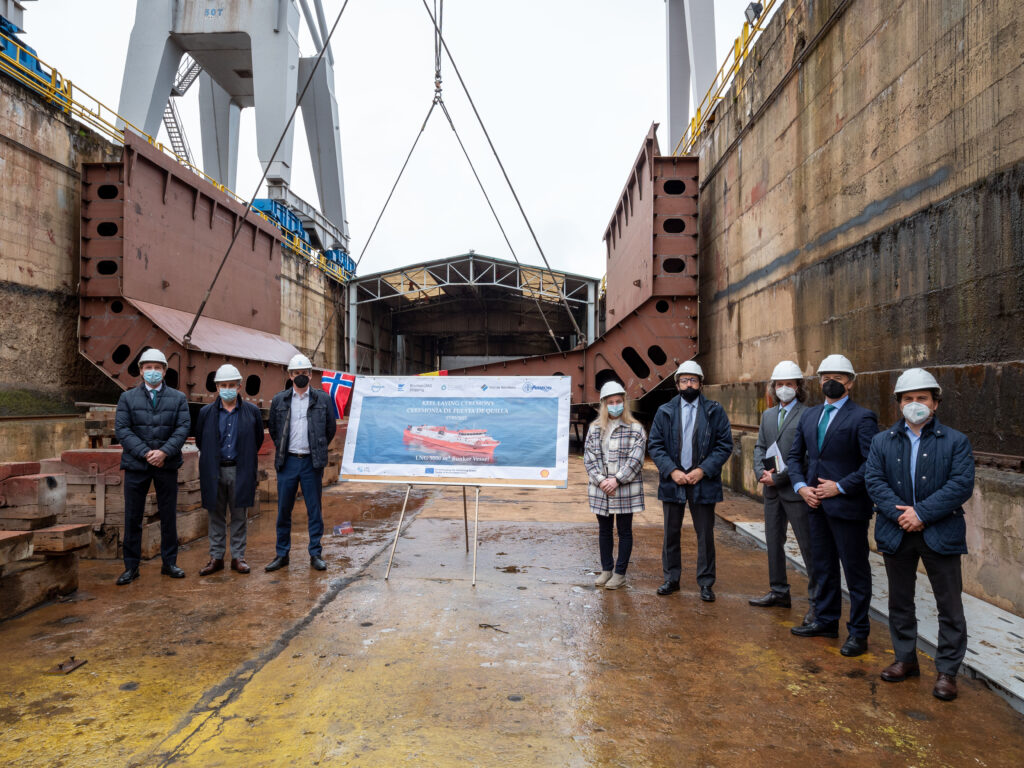 Keel laid for first Spanish-built LNG bunkering vessel