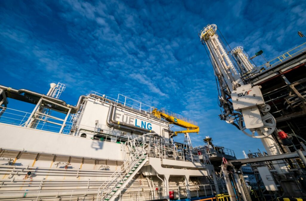 FueLNG Bellina's first LNG reloading operation at Singapore LNG