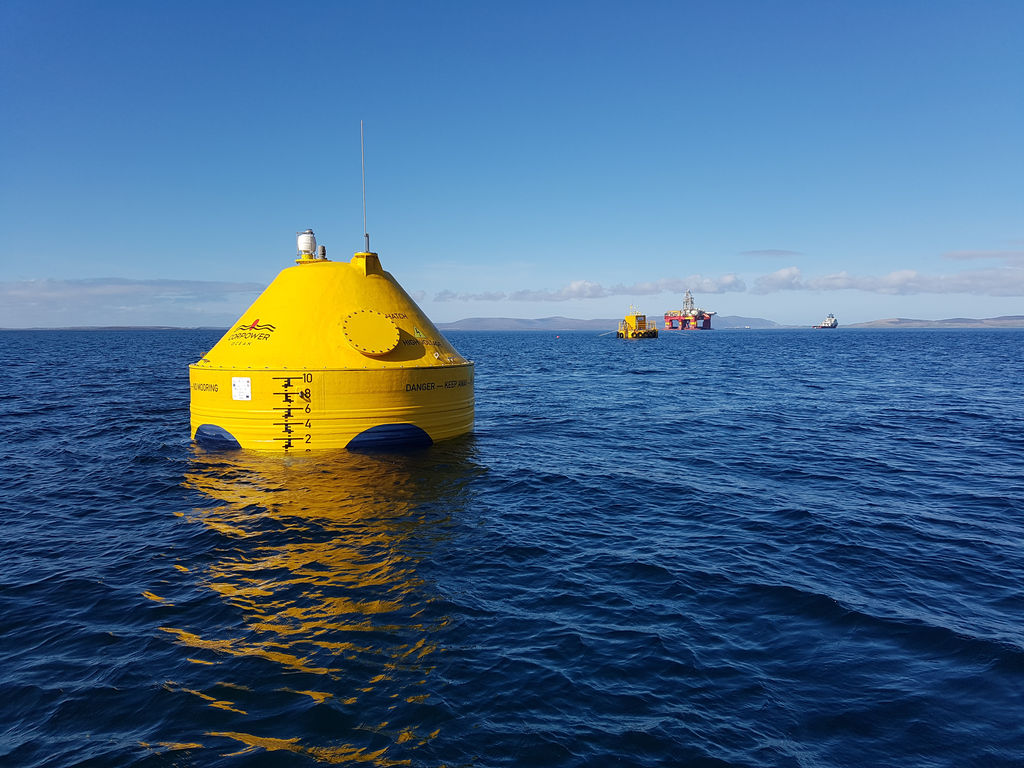 Illustration/CorPower's C3 wave energy device (Courtesy of CorPower Ocean)