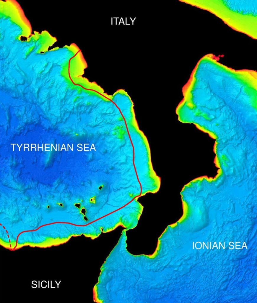 Image showing East Link section of the Tyrrhenian Link interconnector (Courtesy of Fugro)