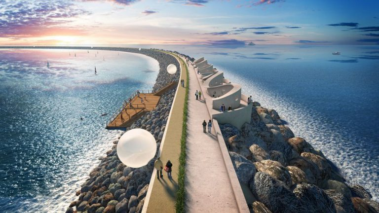 Illustration/Tidal Lagoon Power's concept for tidal lagoon in the Swansea Bay (Courtesy of Tidal Lagoon Power)