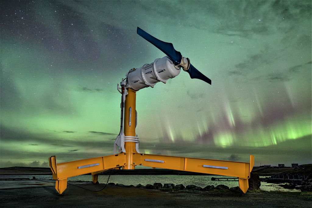 Photo of Nova Innovation's Eunice tidal turbine (Courtesy of Nova Innovation)