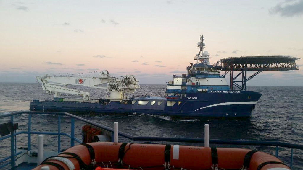 Photo of Harvey Intervention vessel (Courtesy of Harvey Gulf Subsea Solutions)