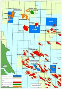 Deltic Energy's Southern North Sea assets, including Pensacola