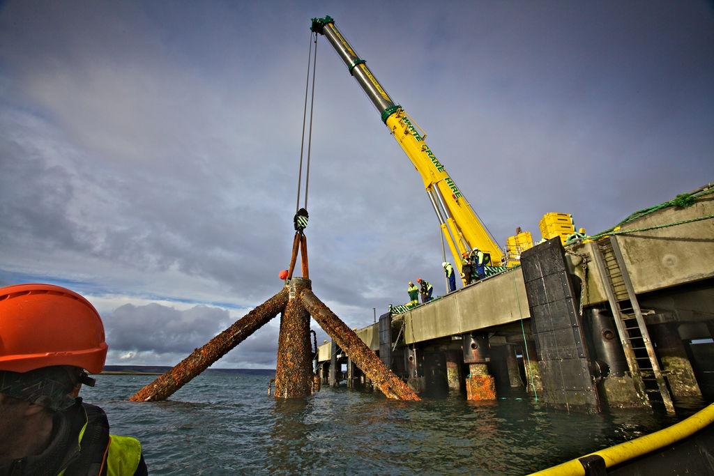 TGL EMEC base removal (Courtesy of Colin Keldie)