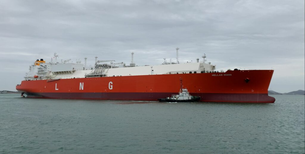 The first LNGC of the fleet delivered to Latsco