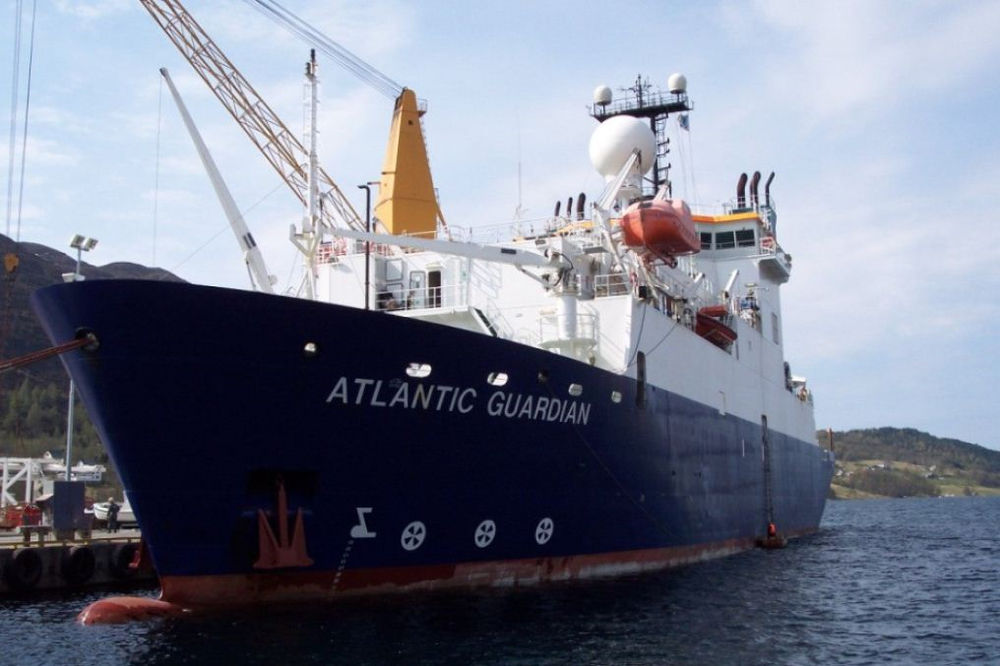 Photo of the Atlantic Guardian vessel (Courtesy of EMGS)