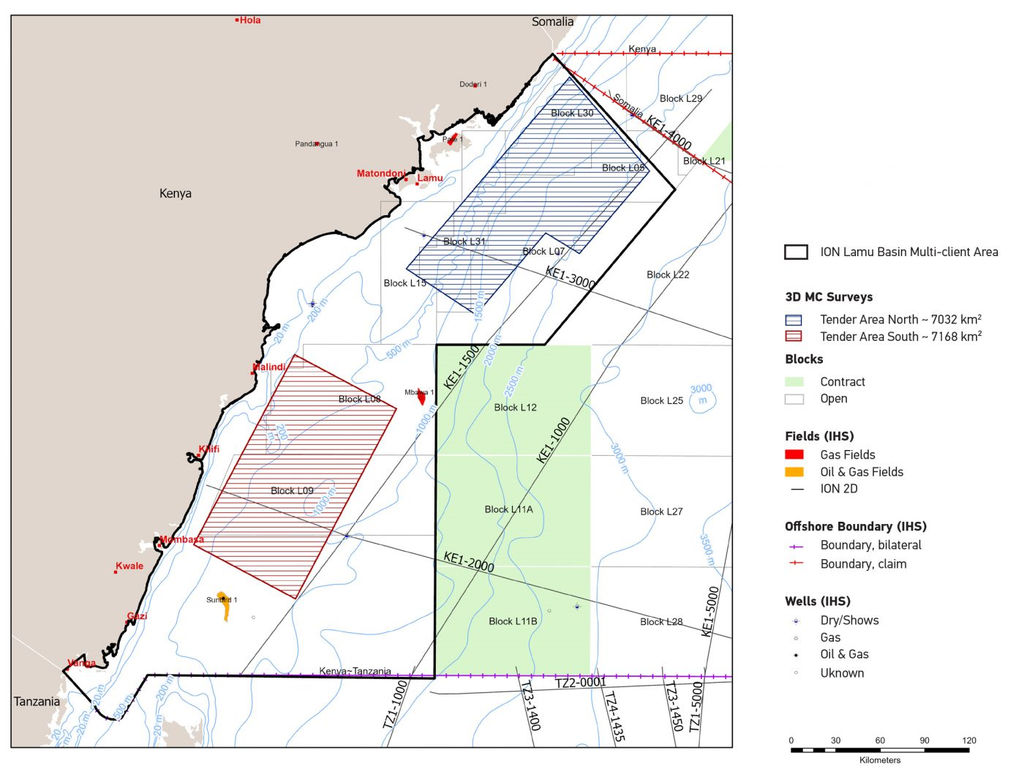 ION Lamu Basin multi-client area (Courtesy of ION Geophysical)