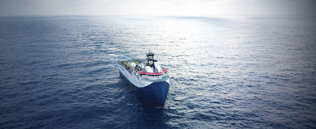 Photo of SW Vespucci vessel (Courtesy of Shearwater GeoServices)
