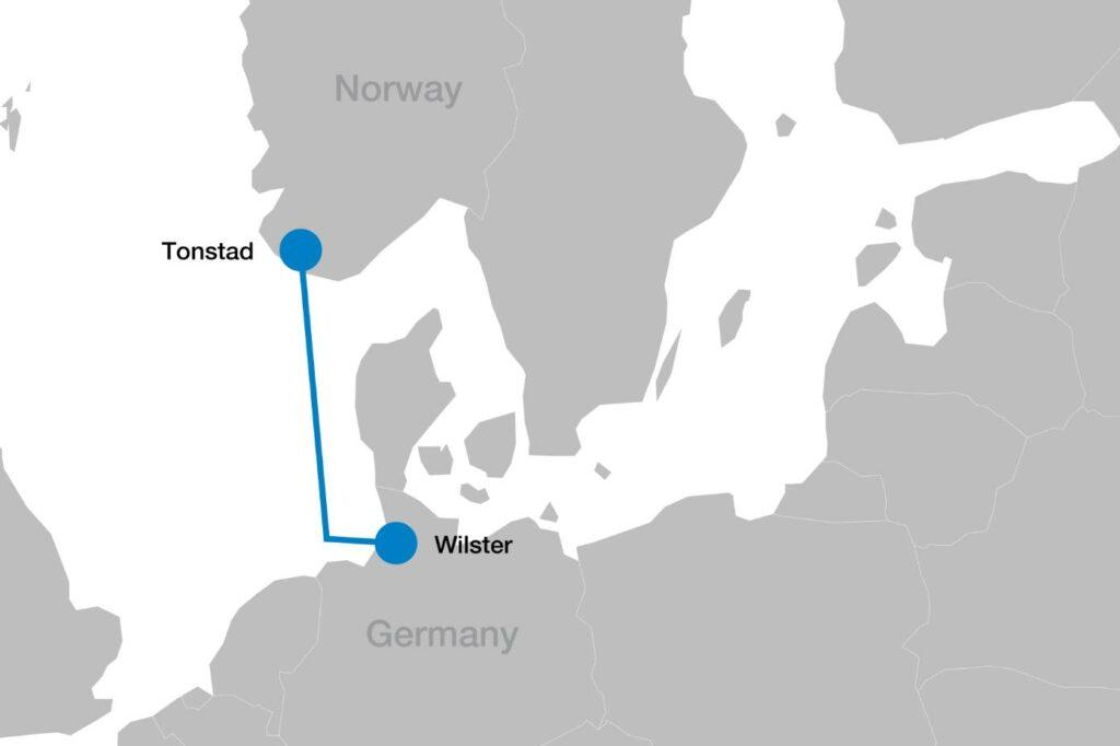 Image showing NordLink map (Courtesy of Statnett)