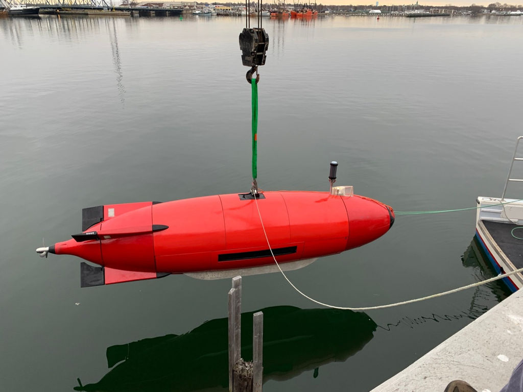 Photo of the DIVE-LD with Kraken MINSAS120 (Courtesy of Kraken Robotics)