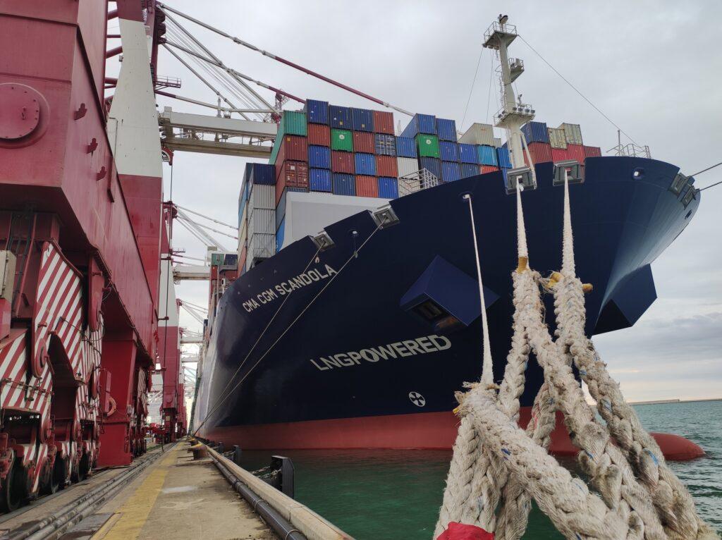 Hutchison Ports BEST receives CMA CGM Scandola LNG vessel