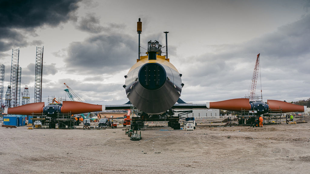 Photo of Orbital Marine Power's O2 tidal turbine (Courtesy of Orbital Marine Power)