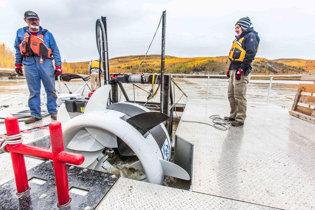 Illustration/The Oceana turbine (Courtesy of ACEP/Photo by Todd Paris/UAF)