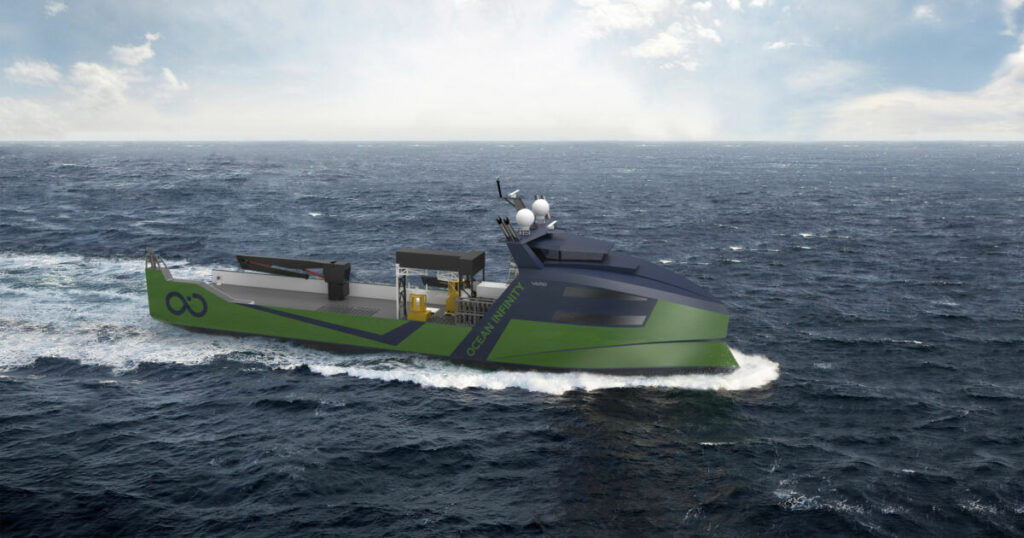 Image showing marine robotic vessel for Ocean Infinity (Courtesy of VARD Group)