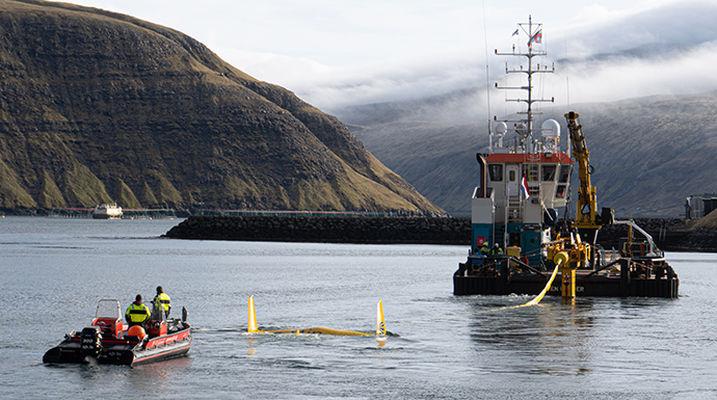 Minesto's DG100 tidal energy kite in Faroe Islands (Courtesy of Minesto)