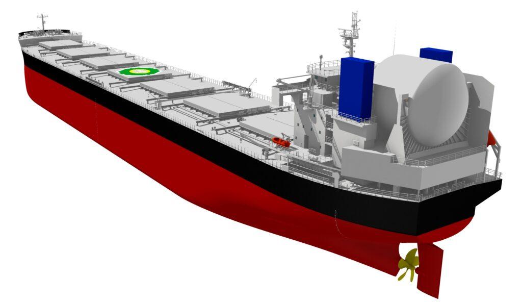 Tsuneishi's LNG bulk carrier Kamsarmax to reduce CO2 by 40%