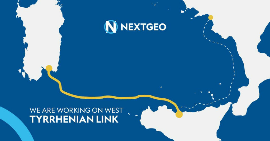Photo of the West Link section of the Tyrrhenian Link interconnector (Courtesy of Next Geosolutions)