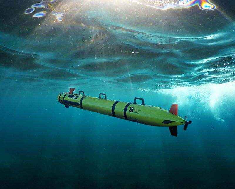 The REMUS 300 unmanned underwater vehicle concept (Courtesy of Huntington Ingalls Industries)