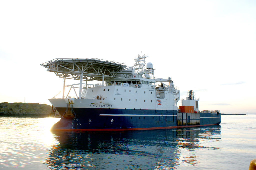 Photo of the Stril Explorer vessel (Courtesy of Reach Subsea)
