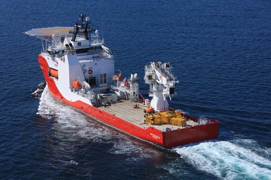 Photo of the Siem Spearfish vessel (Courtesy of Siem Offshore)