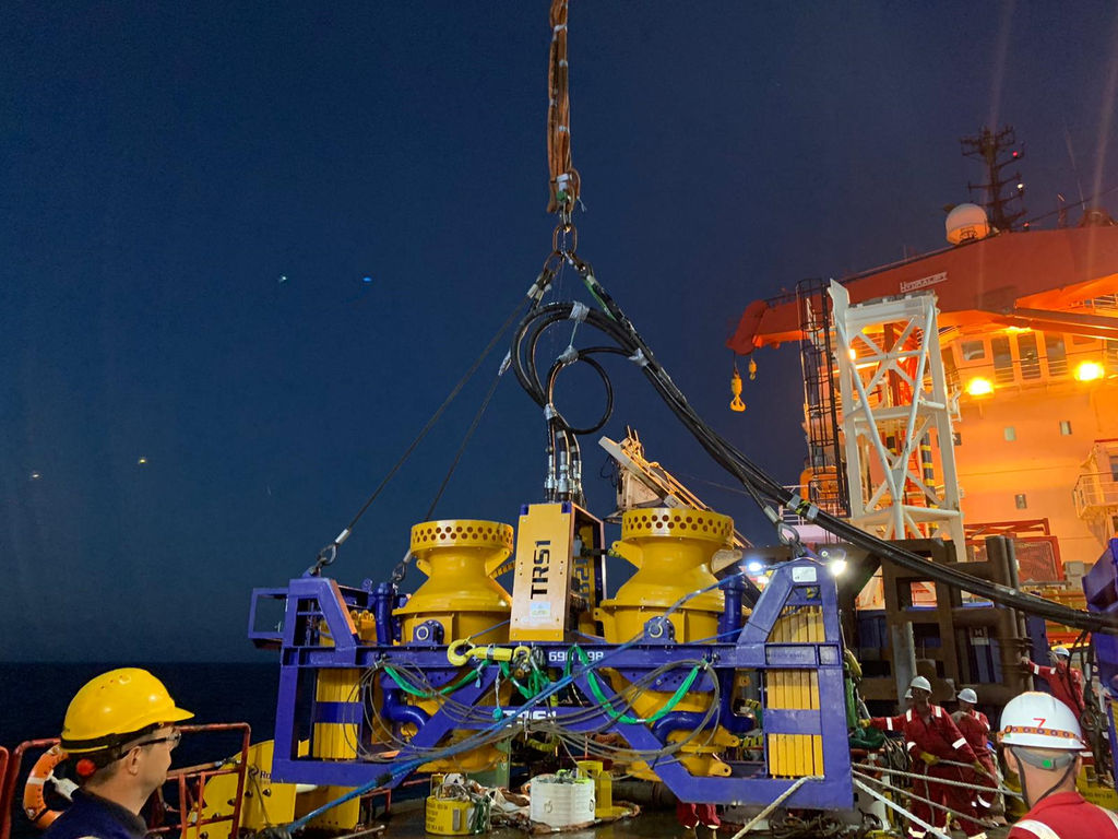Photo of the TRS1 jet trenching tool (Courtesy of Rotech Subsea)