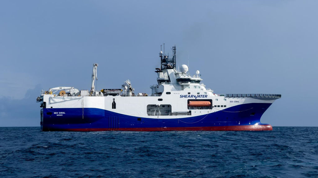 Photo showing Shearwater's Geo Coral vessel that will be undertaking the seismic acquisition (Courtesy of Carnarvon Petroleum)
