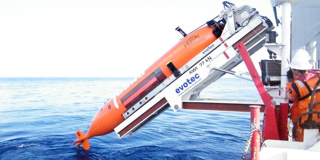 Photo showing Fugro's AUV (Courtesy of Fugro)