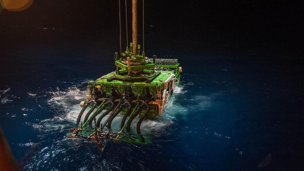 Photo showing Patania II seabed mining robot (Courtesy of DEME)