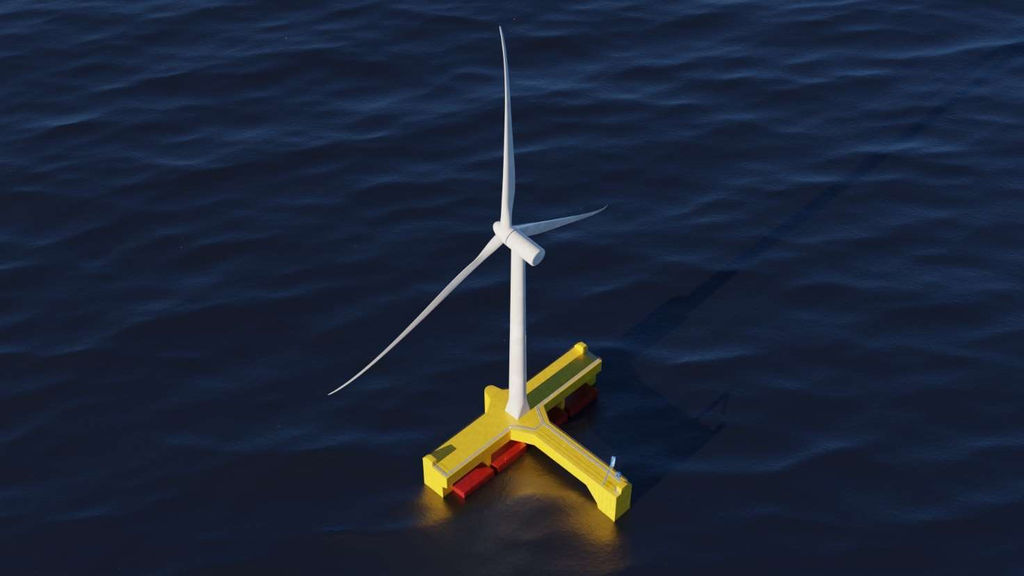 Image showing FPP's floating wind and wave hybrid concept (Courtesy of Floating Power Plant)