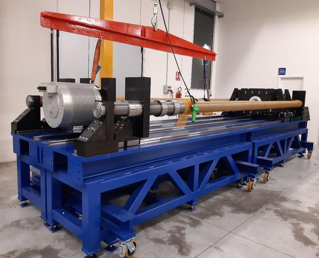 Photo showing the IMAGINE test rig and mounting of EMG prototype at VGA facility (Courtesy of IMAGINE)