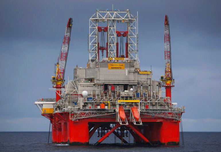 Transocean Barents rig
