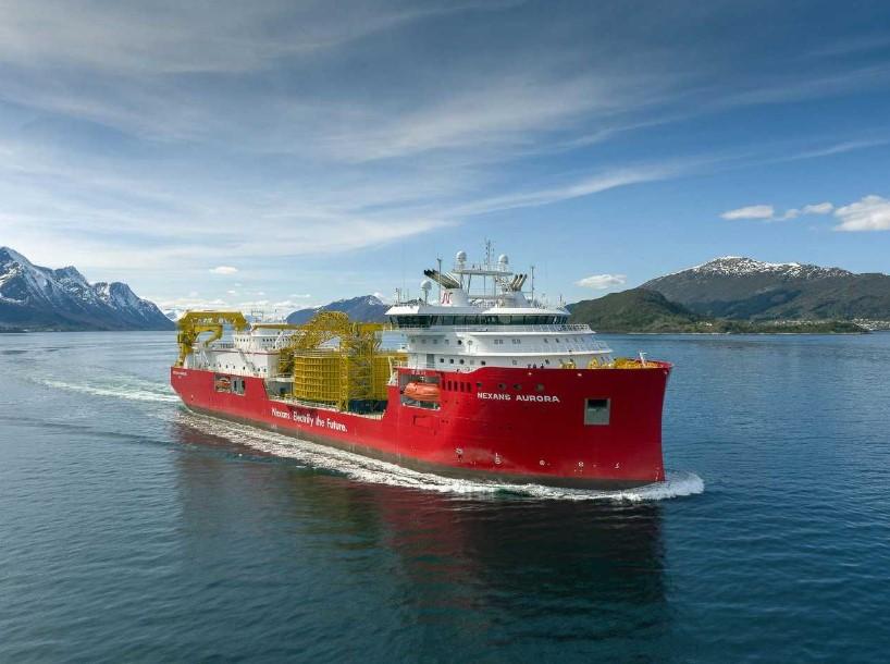 CLV Nexans Aurora on sea trials