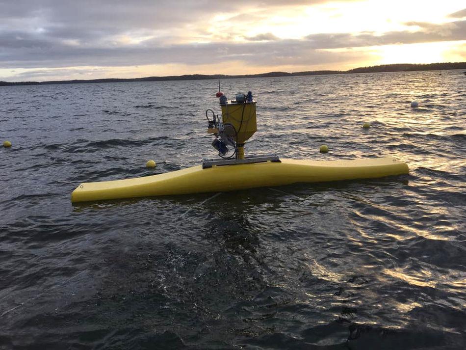 Photo of Novige's NoviOcean wave energy device (Courtesy of Novige)