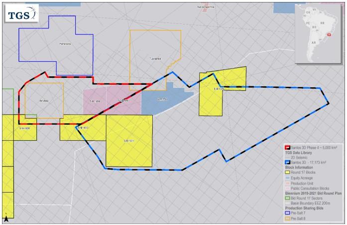 TGS begins Santos Basin phase 4 3D survey