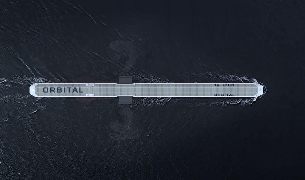 The design for utility-scale Orbital OA model (Courtesy of Orbital Marine Power)