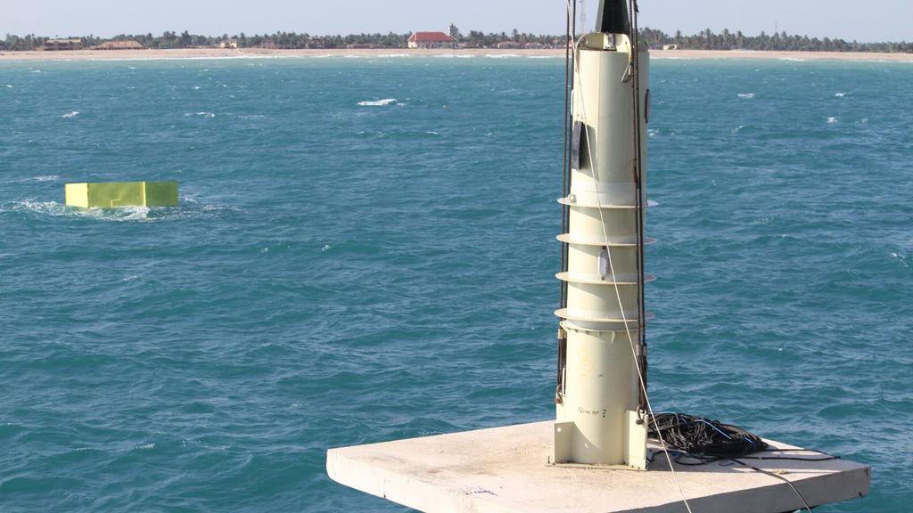 Photo showing Seabased's wave power generator (Courtesy of Seabased)